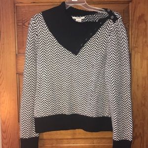 New Michael Kors Black White Sweater